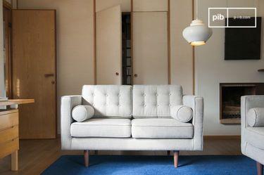 Sofá de tela Silkeborg