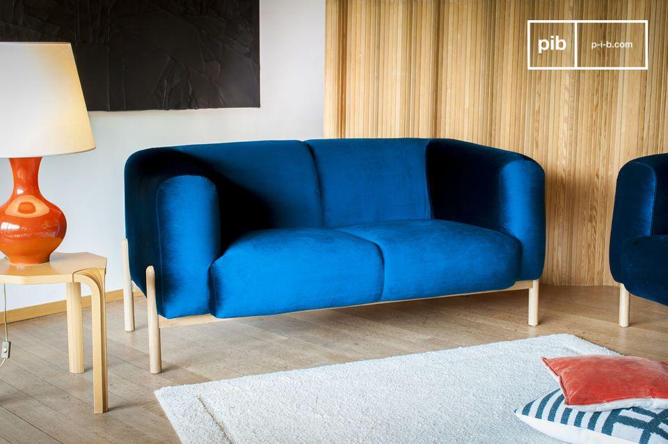 Un diseño escandinavo atemporal, perfecto para un toque colorido en una sala de estar