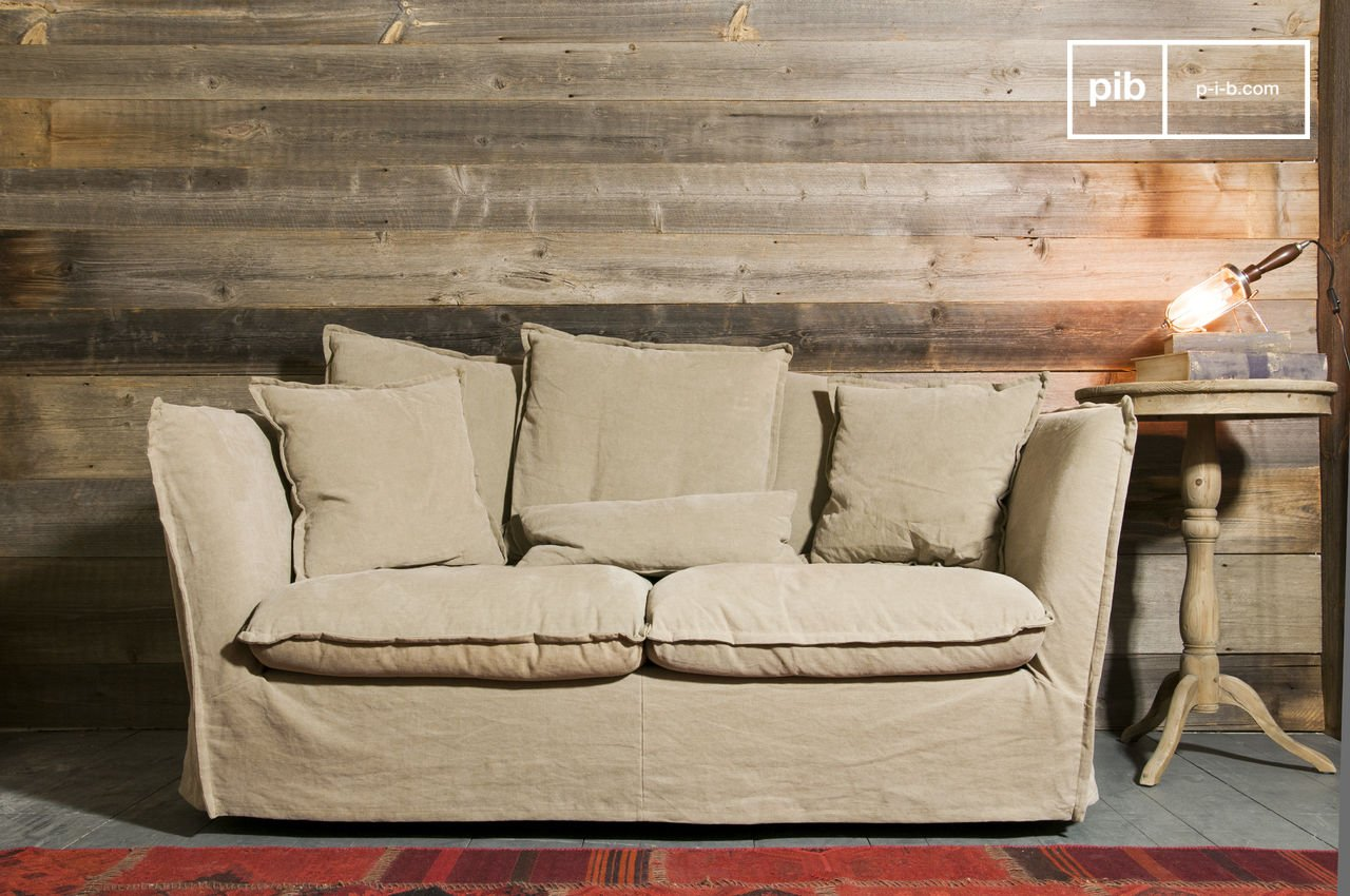 Canapé Campagne Chic Pas Cher sofa mélodie beige