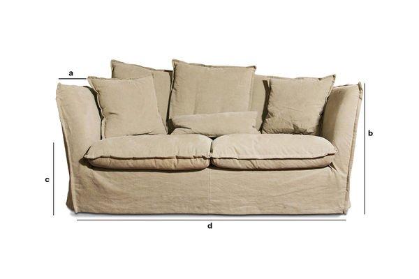 Dimensiones del producto Sofa Mélodie Beige
