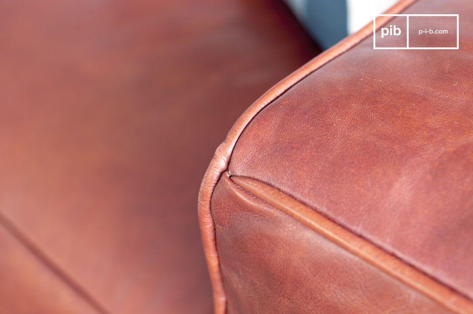 Elegancia y comodidad de un sofá de piel escandinavo
