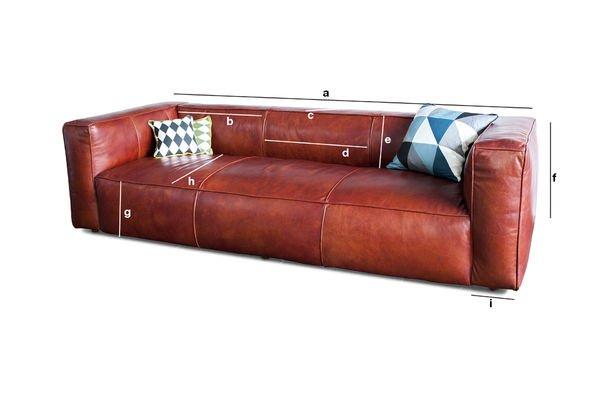 Dimensiones del producto Sofá vintage Krieger