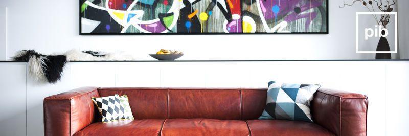 Sofás modernos escandinavos pronto de nuevo en la colección
