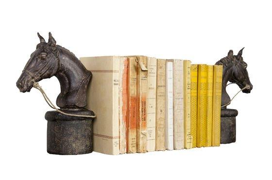 Sujeta libros en forma de caballo Clipped