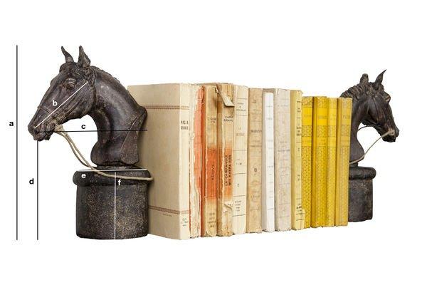 Dimensiones del producto Sujeta libros en forma de caballo