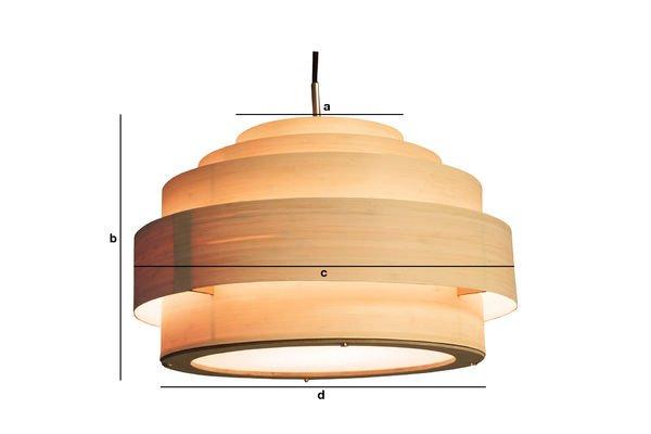 Dimensiones del producto Suspensión Bamboo 40 cm