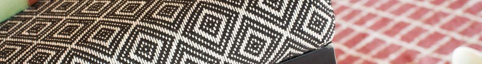 Descriptivo Materiales  Taburete Ambroise blanco y negro