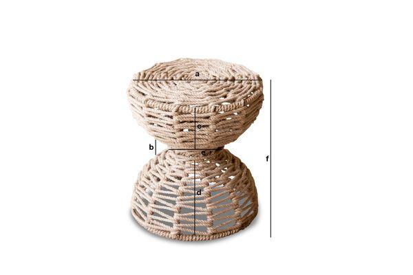 Dimensiones del producto Taburete Arpillera
