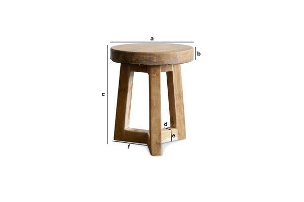 Dimensiones del producto Taburete de madera Maverick