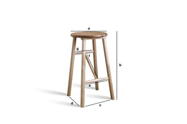 Dimensiones del producto Taburete de madera Niels