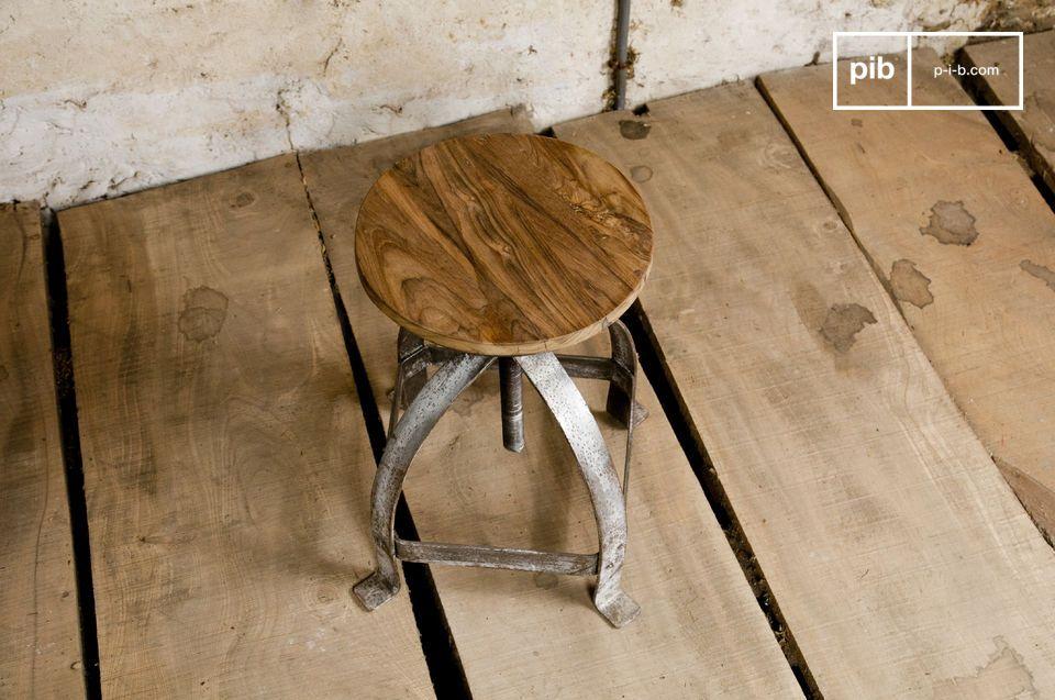 Taburete de madera teca solida