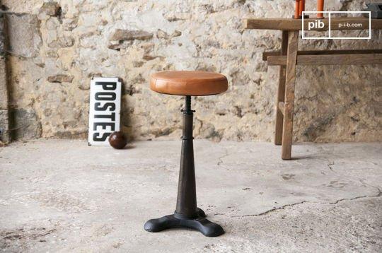 Taburete Tailor con silla de cuero