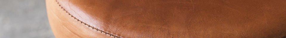 Descriptivo Materiales  Taburete Tailor con silla de cuero