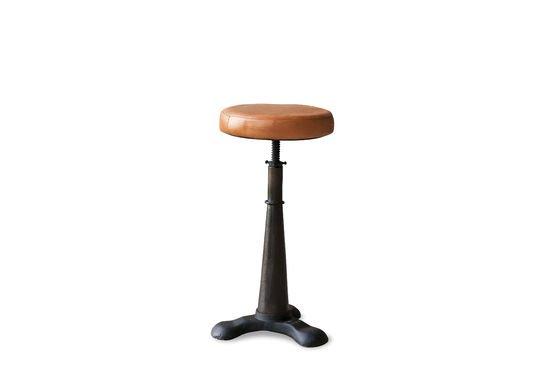 Taburete Tailor con silla de cuero Clipped