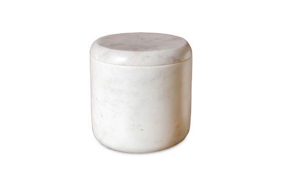 Tarro de mármol blanco Wäg Clipped