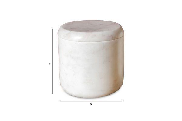 Dimensiones del producto Tarro de mármol blanco Wäg