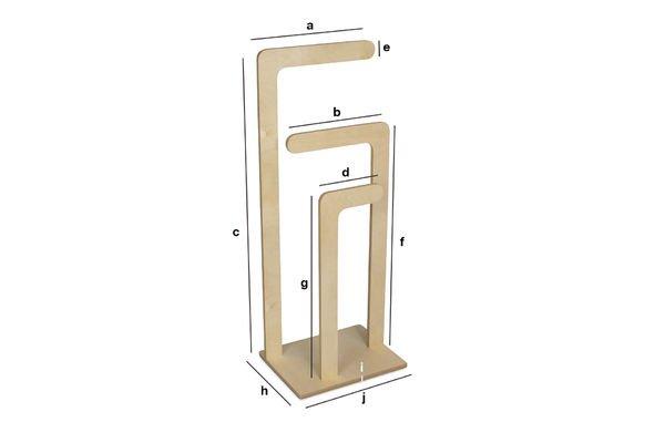 Dimensiones del producto Toallero de madera Sweden