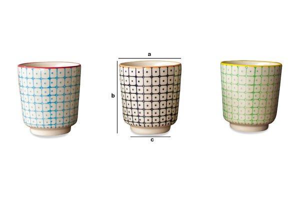 Dimensiones del producto Tres tazas expresso Brunï