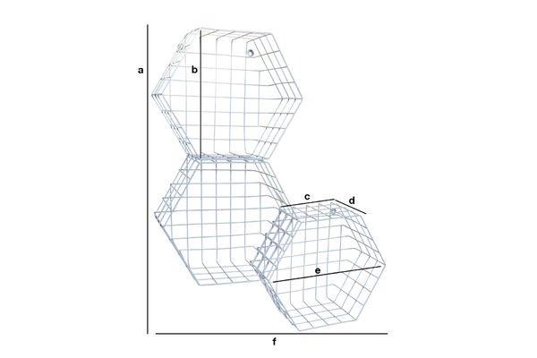 Dimensiones del producto Trío de cestas Léa