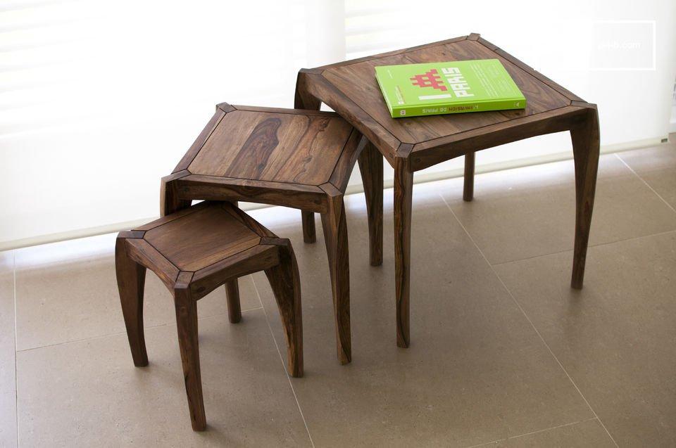 Trio de mesas Luna