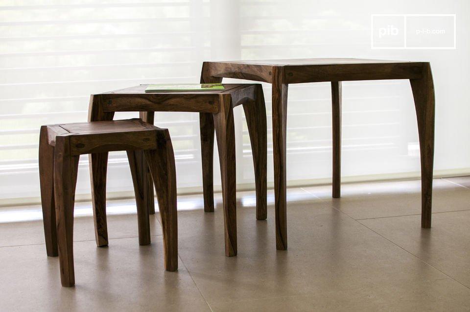 Disfrute de los hermosos acabados de estas tres mesas
