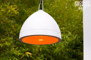 Lámpara blanca colgante Kepsta
